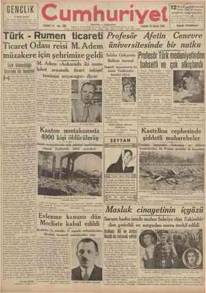 r GENCLİK 3 üncü sayısı Türk ordusu, Saim Polatkanla ko nuşma. terbıye sistemimiz, İnsan mecmuası ve bugünkü genclık hakkında