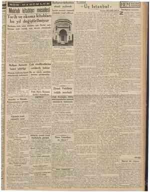 20 Temmuz 1938 CUMHURÎYET Tarih ve okuma kitabları bu yıl değiştirilmîyor Basılması icab eden kitablar için Devlet matbaasına