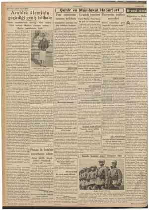 CUMHURÎYET 3 Aeustos 1938 BEYRUT MEKTUBLARI Arablık âleminin geçirdiği geniş istihale ( Şehir ve Memleket Haberleri ) Siyasî