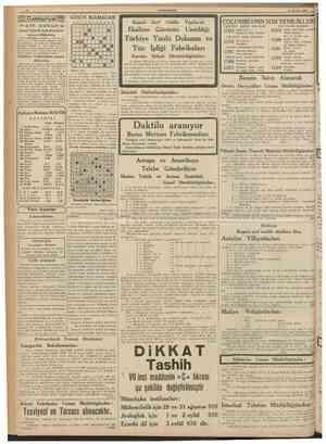 CUMHUKİYET 11 Ağustos 1938 >umhuriyeti IHI tyn İzmit Gölcük belediyesinin nazarı dikkatine GÜNÜN BULMACAS1 1 2 3 4 6 * 7 8 9