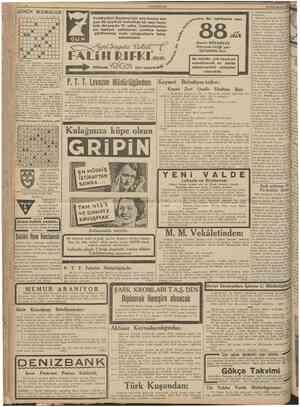 CUMHURİYET 22 Birinciteşrin 1938 İstanbul asliye 3 üncü hukuk mahkemesinden: Anadolukavağında Mirşahçeşme çık mazı sokağında