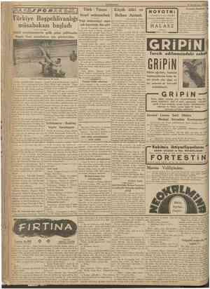 CUMHURÎYET 23 Birinciteşrin 1938 /POI? Türkiye Başpehlivanlığı Yeni mukaveleyi yapamüsabakası başladı cak heyetimiz dün gitti