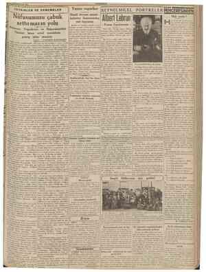 25 Birinciteşrin 1938 CUMHURfYET TETKiKLER VE DENEMELER Yunan vapurları Şimalî Avrupa memle ketlerine limanımızdan mal...