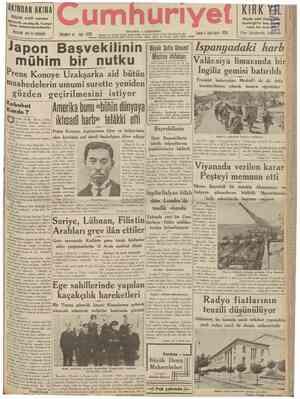 Cumhuriyet sayfa 1