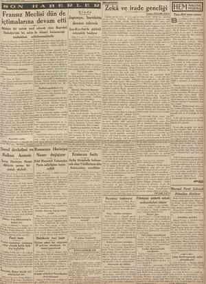 10 Birincikânun 1938 CUMHURİYET SON Meseleler Çinde Eskıden genclik, hulya ve sevgi çağı lar, fakat yüksek tahsilin son...