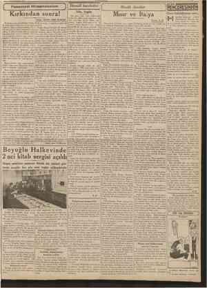 2 İkincikânun 1939 CUMHURİYET tktısadî hareketler Büyük davalar PENCERESiNDEN Gene kalabilmenin sırrı... epimizin endişemiz,