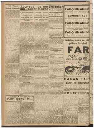 CUMHURİYET 13 İkincikânun 1939 Türk Ticaret Bankası 25 yaşında Millî bankalanmızm ilki ve ıaSiî en eskisi olan Türk Ticaret
