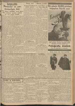 22 tkincikânun 1939 CUMHURİYET Serbest sütün Ornek koca Mürefte sarabları Memurlar ve yarı memurlara dair Devlet «Hususî...