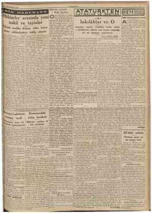 27 İkincikânun 1939 CUMHUR1YET SON Hâdiseler arasında Refik Saydam nu yirmi sene evvel Atatürkün yambaşmda görüyoruz. Erzurum