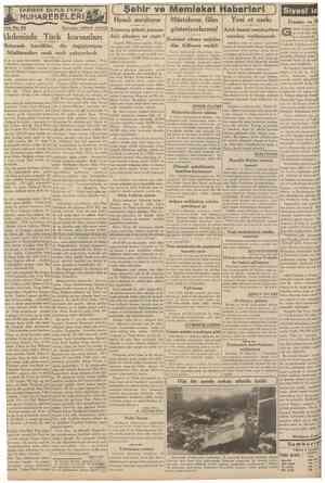 CUMHURİYET 14 Şubat 1939 TARİHDE BiyiJK DENİZ Teîrıka No. 92 MUHAREBELERil NakleHen: ABtDlN DAV£R [ Şehir ve Memleket...