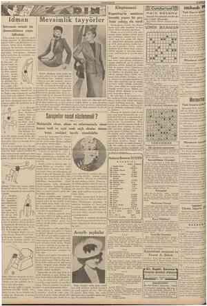 CUMHURİYET 22 Şubat 1939 Kleptomani Cumhuriyet ılilfe s u t, yı ITÛ m ittihadı Türk Sigorta şirketinden: ldman İsterseniz...