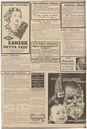 10 CUMHURIYET 25 Şubat 1939 SAGLIGINIZI KORUYUNUZ 49 senelik tarihi olan bu mecmua, bugün de memleketin en ileri fikir,...