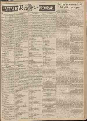 5 Mart 1939 CUMHURİYET PROÖRAMI (BU akşamki program J 7 mart salı Türkiye Radyodifüzyon Postaları ANKARA DALGA UZUNLUĞU 12,30