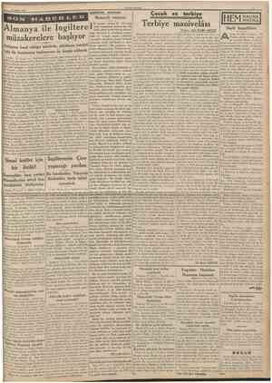 11 Mart 1939 CUMHURlYET MâdiseSer arasında Maksadlı neşriyat Çocuk ve terbiye Yazan: ALt KÂMÎ AKYÜZ vrupa için için kaynıyor;