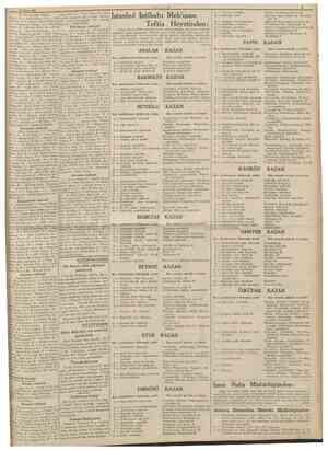15 Mart 1939 [8 inci sahifeden devam] Ünyal, 15 Şefik Özkök, 16 Aziz Karsan, 17 Ahmed Hamdi Erdoğan, 18 Münevver Gökalp, 19