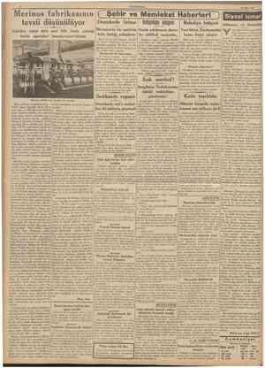 CUMHURlYET 26 Mart 1939 Marmarada bir motörün Henüz yıkılmıyan duvar Yeni bütçe, Encümenden Fabrika, yirmi dört saat bilâ...