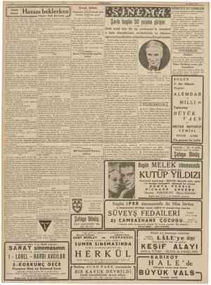 CUMHURtYEÎ 16 Nisan 1939 hikâye IÜÜ I H a s a m beklerken Î2! Yazan : Faik Bercmen ^ 3 Çocuk balosu Programı hazırlıyacak...