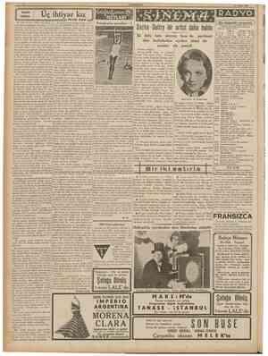 """CUMHURİYET ' 17 Nisan 1939 n Uç ihtiyar kız """"î\ Uç ihtiyar kızm bütün geçim vasıta lan, babalanndan kalan üç ayda bir..."""