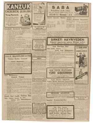18 Nisan 1939 CUMHURİYET Evinizde neş'e ile vakit geçırmek ... Evimze bütün dünya haberlerini almak istersenh ? OKSURUK...