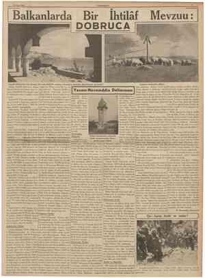 29 Nisan 1939 CUMHURÎYET Balkanlard DOBRUCA Ihtilâf vzuu: Cenubî Dobrucada Ana Kraliçe M ari'nin kalbinin mahfuz bulunduğu