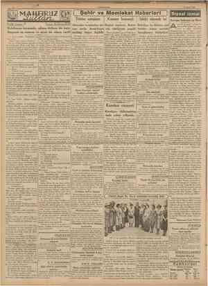 CUMHURÎYET 19 Mayıs 1939 ( Tarihî roman: 27 Şehir ve Memleket Haberieri ) Tütün satışları Kanser konseyi Sıhhî ekmek isi...