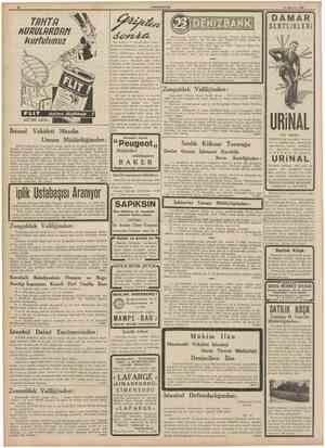 CUMHURÎYET 11 Hazîran 1939 TRHTRHURULRROfm kurtulunuz SERTLiKLERi Kuvvetinizi ve vücudünüzün muka vemetini tazeleyiniz....