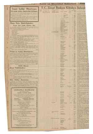 10 20 Temmuz 1939 însaat İsciliği Münakasası ETİ BANK GENEL DİREKTÖRLÜĞÜNDEN: Eankamızm Artvin Vilâyeti dahilinde Murgul...