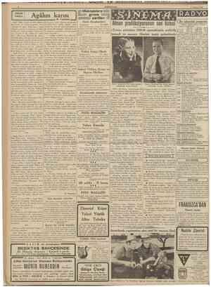 CUMHURİtfET 1 A&ustos 1939 KUçük hikâye Agâhın karısı I N. Tapman Ji Bu akşamki program J Harb Akademileri Korkularmın artık