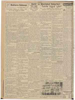CUMHURÎYEl 27 Ağustos 1939 TARÎHt \ ROMAN \ 12 ; Buhara Güneşi Yazan: ORHAN RAHMİ tepe çıkacaktır. Bu tepelerden sağdakini aş
