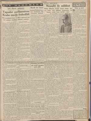28 Ağustos 1939 CUMHURtYET BEYRUT MEKTUBLAR1 Sırb Hırvat anlaşması Yugoslav parlâmentosu Kralın emrile feshedildi Dost...