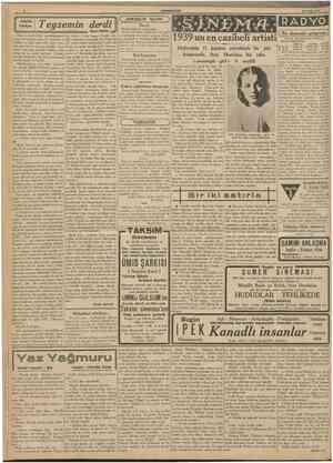 CUUIHUKISIY 23 Eylfll 1939 Teyzemin derdi \ Nurl Reffk = ^ Ben ve kardeşlerim, çocukluğumuzda Ayşe teyzemizden başka bir...