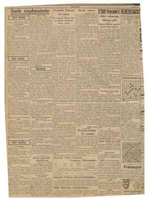 CUMHURtYET 30 Evlul 1939 Garb cephesinde     Şark cephesi (Bastarafı 1 tnct sahifede) Alman tebliği Berlin, 29 (a.a.) Büyük