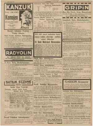 22 Birinciteşrin 1939 CÜMHUBÎYET Galatasaray Lisesi Alım Satım Komisyonu Başkanlığından MJktarı Kilo 2500 4000 1500 3500...