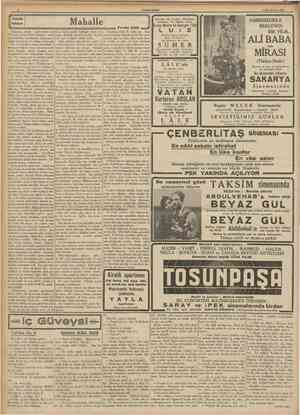 CUMHURÎYET 9 fidnciteşrin 1939 KUçük hikâye Odaiarda, sofada bağh denkler var. Yerlerde atılmış kitab yaprakları, yırtılmış