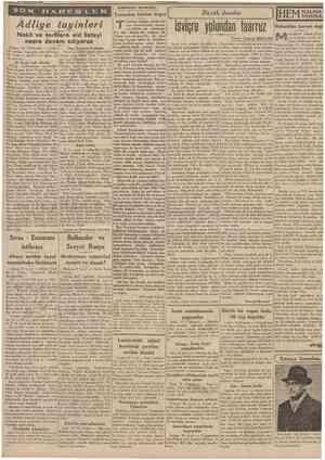 19 İkincîtcsıîn 1939 CUMHUBÎYFT Hâdîseler arasında Yarımdan bütüne doğru A dliy e tay in ler i Nakil ve terfilere aid listeyi