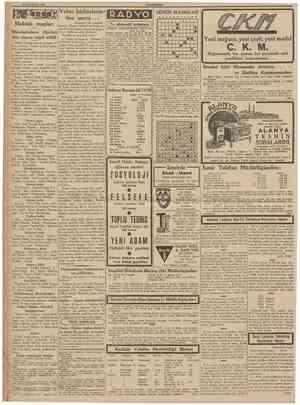 25 Ikînciteşrîn 1939 CUMHURİYET (Bastarafı 1 tnci sahiîede) aksamkî program J 2 m metinin, Alman hükumeti nezdinde proS ...