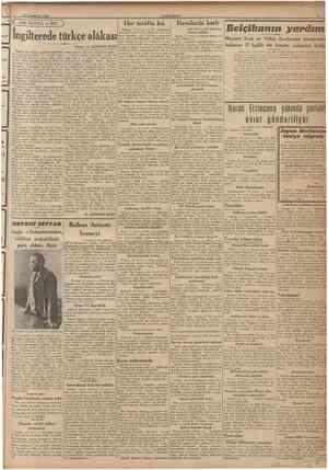 13 lkincikânun 1940 CUMHURÎYET ( m DIŞ DÜNYA ve BİZ ) Her tarafta kış Havalarda harb Ingilterede türkçe alâkası Yazan: E....