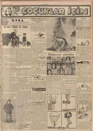 1 jîkincikânnn 1940 CUMHURİYET [FAYDAU BTLGÎLER I Yavrular Biliyorsunuzki vatanımızın mülum bir kbşesi zelzeleden harab oldu.
