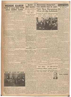 CUMHURÎYET 17 Şubat 1940 Halk hayrette! Vatan hizaetine koşan bir cemiyet Tarihi 17 seneyi bolan btiyük içtimaî inkılâbın...