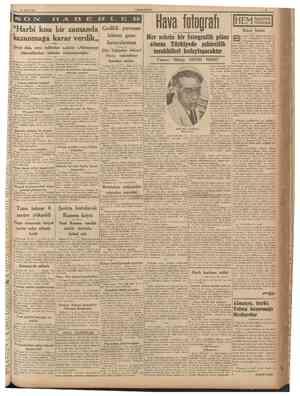 """31 Mart 1940 CUMHURÎYET """"Harbi kısa bir zamanda kazanmağa karar verdik,, Gedikli yuvasını bitiren genc havacılarımız Çörçil"""
