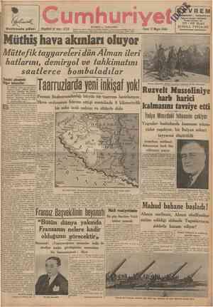 Haziranda çıkar umhuri ISTANBUL CAĞALOĞLU I 5 7 5 2 Telgraf ve mektub adresi: Cumhuriyet, İstanbul Posta kutusu: istanbuL No.