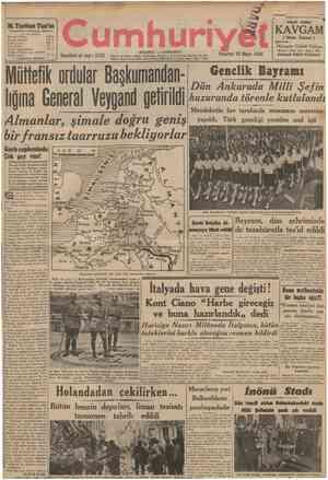 Almanlar, şimale doğru geniş bir fransız taarruzu bekliyorlar Garb cephcsinde Çok şey rar! Bu gün bütiin insanlıkta gittikçe