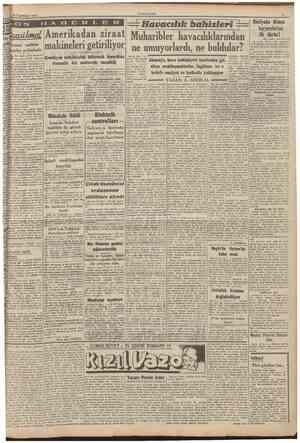 19 îkincikânun 1941 CUMHURİYET O IV B E (Baş tarafı 1 inci sahifede) Bu arada İngiliz avcı tayyareleri Trablusgarbda...