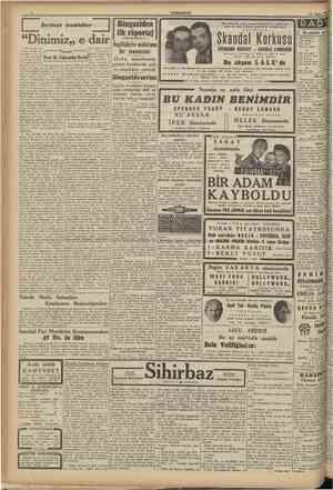 v f CUMHURÎYET 13 Şofeat 1941 Serbest tenhidler Yazan: bir manevrası ve r, Fahreddin Kerim[ •£££ Z Ordu, maynlenmiş ibaret