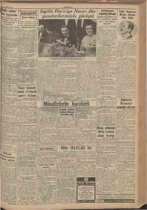 """1 Mart 1941 CUMHURIYET tngiliz erdusu Keren kapılarında İtalyanîar Gojam mın"""" takasındaki mevzilerini bırakarak kaçıyorlar"""