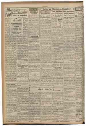 CUMHURİYET 12 Mart 1941 İDoğrc değü mi?|Kadıköyünün en işlek mıntakasının acınacak hali Yazan: W. ChurchİU tngiltere...