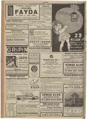 CUMHUKhFCT 17 Nisan 1941 HAVALAR ISINDI Onlar uyanmadan ROMA kulübül 21 nisan 941 pazartesi günü saat 17 de Tepebaşında...