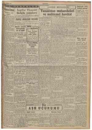 20 Nisa* 1941 CUMHURİYET 3 ASKERI MUSAHABE Yugoslavya niçin yıkıldı ? ingiliz Ticaret Biriiğile müzakere lzmir (Hususi)...