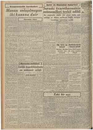 CUMHURIYET 3 Mayıs 1941 tlantik meydan muharebesini, İngilizler, bu harbin en muhlm mucadelesi addedıyorlar ki bunda haksız