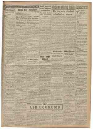 29 Mayıs 15II CUMHURÎYET Pasit korunma Millî Şef Mecliste Mister Ruzvelt'in nutku , irlesik Amerıka Cumhnr Reisi i Mister...